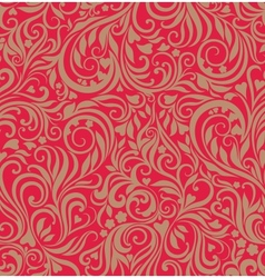 Seamless festive floral background vector