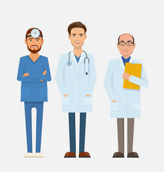 set doctors characters vector image