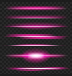 Set purple glowing light effect isolated on vector