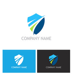 shield guard logo vector image