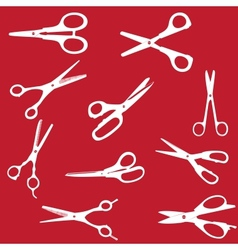 silhouette Scissors seamless pattern EPS 1 vector image