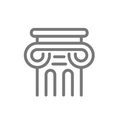 simple ancient column line icon symbol and sign vector image