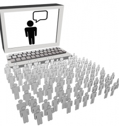 Social network audience vector