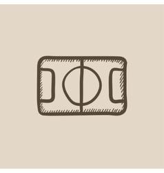 Stadium layout sketch icon vector