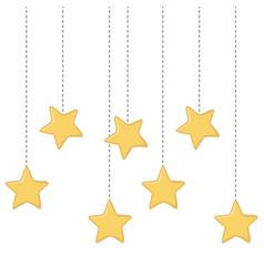 Stars hanging icon vector