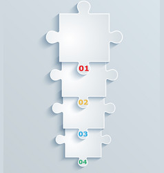 step step parts puzzles vector image