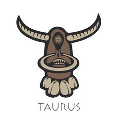 taurus astrological sign of zodiac vector image