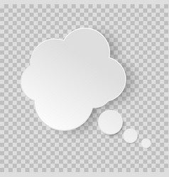 think bubble dream cloud isolated on white vector image