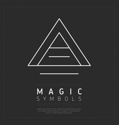 Triangle magic symbol on gray vector
