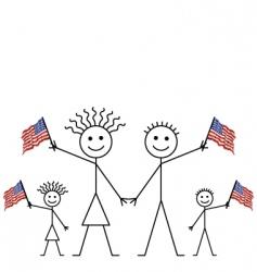 usa flag waving vector image