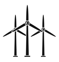 Wind turbine generator icon simple style vector