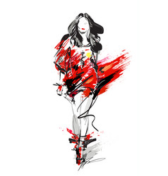 Woman fashion model vector
