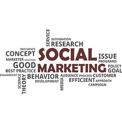 Word cloud social marketing vector