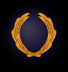 wreath wheat color gold vector image