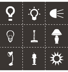 black light icons set vector image