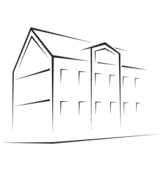 building symbol vector image vector image