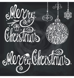 Christmas typography letteringcard elements vector image vector image