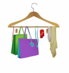 fashion clothes hanger vector image vector image