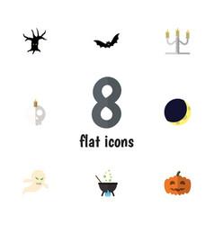 flat icon halloween set of ghost magic cranium vector image vector image