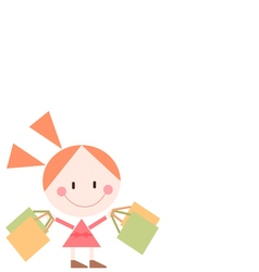 girl packeges vector image