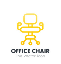 Office chair icon in linear style over white vector