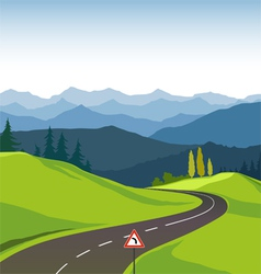 Road and landscape vector image vector image