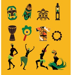 African icons vector