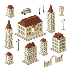 Antique buildings vector image vector image