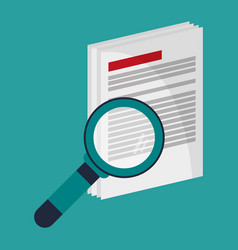 document paper search analytics vector image
