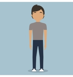 faceless fashionable young man icon image vector image vector image
