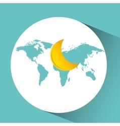 Weather concept forecast half moon icon design vector