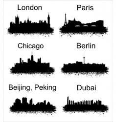 world cities vector image