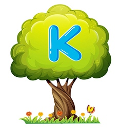 A tree with a letter K vector image
