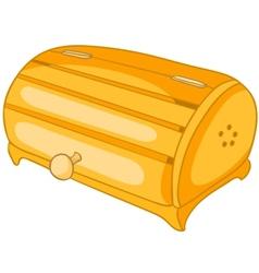 cartoon home kitchen bread bin vector image vector image