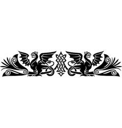 Medieval Celtic pattern vector image vector image