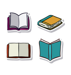 Open and close books design vector