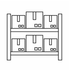 Storage of goods in warehouse icon outline style vector image