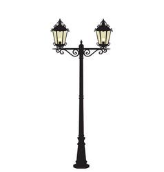 street lamp vector image