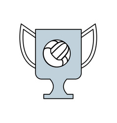 Trophy cup championship vector