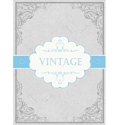 vintage framed background with label vector image