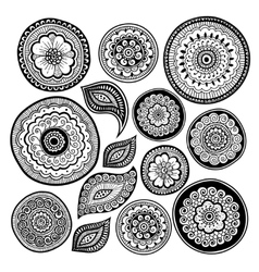 Zen-tangle elements for your creation vector image vector image