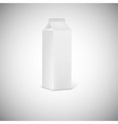 Blank grey juice or milk packaging vector image