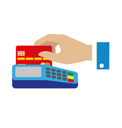 cash free payment with bank credit card vector image