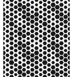 hexagon monochrome seamless geometrical pattern vector image vector image