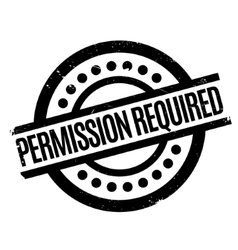Permission required rubber stamp vector