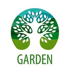 Round logo tree for the garden vector image vector image