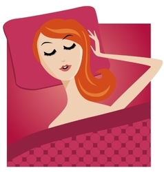 sleeping young girl character cartoon woman vector image vector image