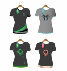 t-shirts set vector image
