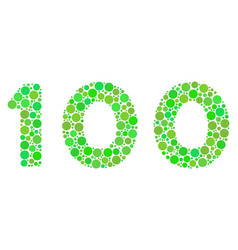 100 text collage of dots vector