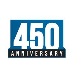 450th anniversary icon birthday logo vector image